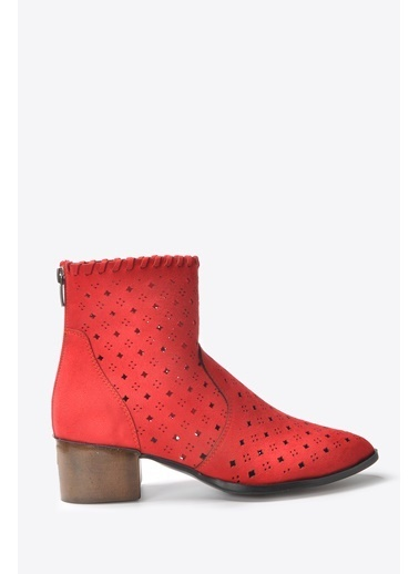 Vizon Ayakkabı Bot Kırmızı